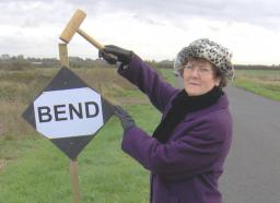 Pauline tries to save lives on dangerous road